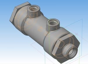 10.Сборочный чертеж 3D-модели гидравлического замка