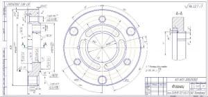 10.Фланец из стали 12Х18Н10Т по ГОСТу 5632-72 (формат А4х3)