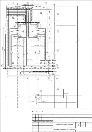 Чертеж СБ обвязки топливных резервуаров, с указанием всех размеров и элементов (формат А4)