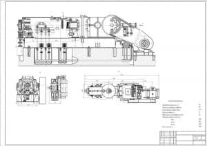 1.Сборочный чертеж смесителя червячного типа с техническими характеристиками