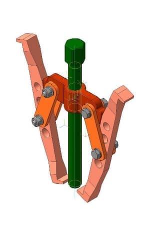 11.Сборочный чертеж модели съемника в 3D формате