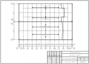 11.Чертеж плана кровли цеха для ремонта комбайнов в масштабе 1:300, с указанными размерами (формат А3)