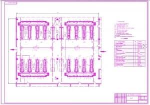 Чертеж проектирования зоны текущего ремонта (формат А1)