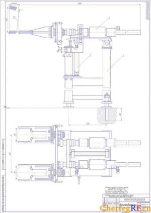 Чертежи линии автоматической обработки чашки дифференциала автомобиля Камаз