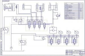 1.Лист схемы гидравлической принципиальной универсальной аэродромной машины на базе КамАЗ