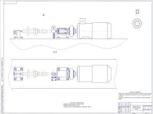 Чертеж устройства для раздачи шлицевых валов с техническими характеристиками: 1. Предельно допустимая масса детали – 30 кг; 2. Наибольшая длина детали – 450мм; 3. Наибольшая длина восстанавливаемой поверхности – 100мм. На чертеже отмечены технические треб