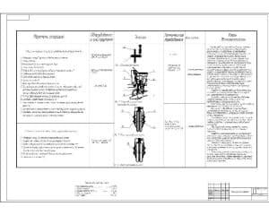 Чертеж операций по усовершенствованию – улучшению конструкции секции посевной (формат А1) с техническими характеристиками
