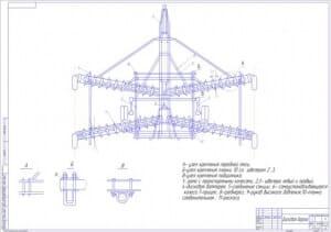 1.Сборочный чертеж дисковой бороны (формат А1) с указанием