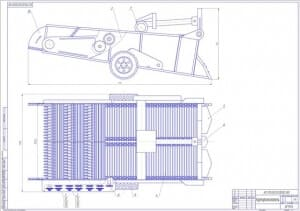 1.Общий вид картофелекопателя КТН-2 (формат А1) в двух проекциях. Техническая характеристика