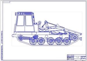 Чертеж общего вида трактора ТТ-4М (формат А1)