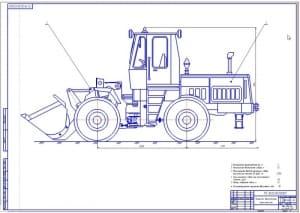 1.Общий вид – лист 1ый фронтального одноковшового погрузчика Амкодор ТО-18 (формат А1)