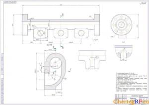 1.Заготовка детали: напорного коллектора (формат А1 )
