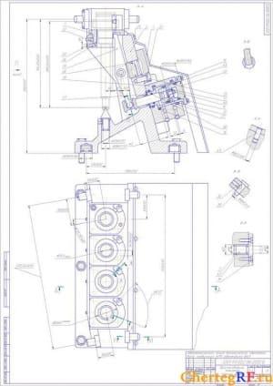 Зажимное приспособление в сборе для автоматической линии механической обработки первичного вала КПП автомобиля ВАЗ