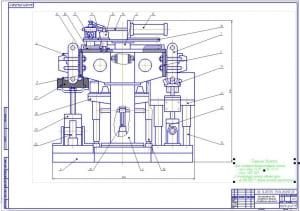 1.СБ приспособление для наплавки деталей (лист 1) на формате А1, в масштабе 1:2,5