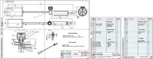 1.Общий вид горелки газовоздушной с техническими требованиями