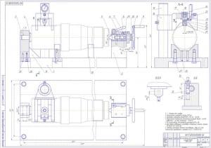 1.СБ  приспособления для контроля зубчатых колес, шлицов валов коробок переключения передач (КПП) и  раздаточных коробок (РК) массой 28, в масштабе 1:1