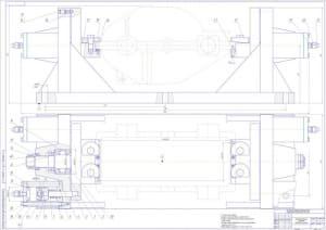 Сборочный чертеж приспособления зажимного для поточной линии механической обработки редуктора ЗПС-100 – на формате А0, массой 150, в масштабе 1:1