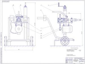 1.Общий вид гайковерта для колес грузовых автомобилей для технического обслуживания транспорта в условиях АТП