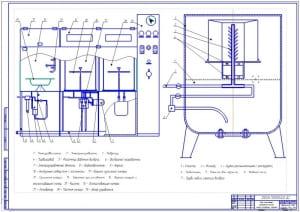 Чертеж обзора существующих конструкций установок для очистки сменных фильтрующих элементов (формат А1)