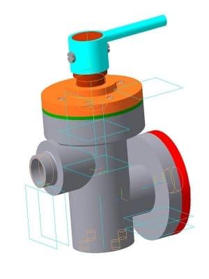 1.Чертеж 3d клапана перепускного в сборе Деталировка конструкции
