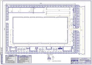 Чертеж генерального плана авторемонтного предприятия (АРП) для ремонта полнокомплектных автомобилей ЗИЛ-130, КамАЗ-4310 (формат А1)