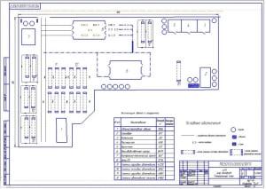 Чертеж генерального плана автотранспортного предприятия (АТП) (формат А2)