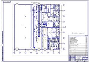 1.Чертеж плана производственного комплекса до реконструкции (формат А1) с экспликацией помещений и площадями