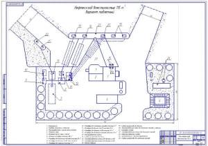1.Чертеж плана нефтесклада подземного варианта вместимостью 115 куб.м. в формате А1, масштабе 1:100 для ВГСХА дипломной работы по ЭМТП. На листе указана экспликация объектов