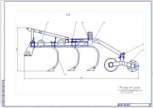 1.Общий вид модернизированного культиватора навесного чизельного КНЧ-4,2М (формат А1) для возделывания яровой пшеницы