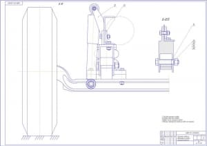 1.Чертеж передней подвески автомобиля средней грузоподъемности (формат А1)