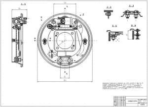 1.Чертеж сборочный в двух проекциях тормозного барабана легкового автомобиля ГАЗ-2410 (формат А1)