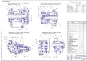 1.Сравнение вариантов конструктивного исполнения главных передач автомобилей и автобусов (формат А1)