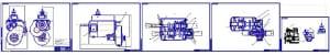 Сборочные чертежи двухвальной механической шестиступенчатой коробки переключения передач (КПП) с большим диапазоном, что позволяет эксплуатировать автомобиль с одноступенчатой раздаточной коробкой, при этом не сильно теряя в проходимости грузового автомоб