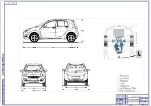 1.Общий вид легкового автомобиля хэтчбек особо малого класса особо малого класса Smart с вариатором (формат А1)