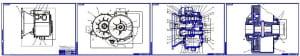 1.Сборочные чертежи роботизированной коробки передач для легкового автомобиля Лада Веста (LADA VESTA) (формат  4хА1)
