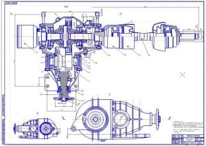 1.Сборочный чертеж ведущего переднего моста легкового автомобиля ВАЗ-2121 Нива (формат А1)