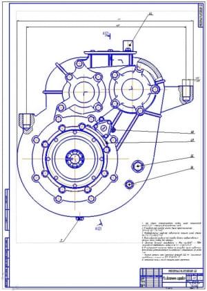 1.Раздаточная коробка грузового автомобиля КамАЗ-4326в сборе (формат А1)