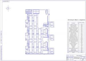 1.Генеральный план молочной фермы (формат А1) с экспликацией зданий и сооружений