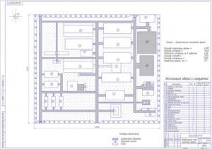 1.Генеральный план молочной фермы (формат А1) с таблицей экспликации зданий и сооружений. Технико-экономические показатели фермы