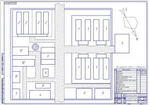 1.Генеральный план агрофирмы (формат А1) с экспликацией