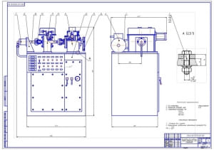 1.Общий вид стенда-установки для проверки муфты свободного хода стартеров системы зажигания (формат А1)