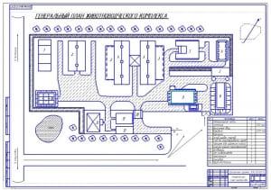 1.Генеральный план животноводческого комплекса (формат А1)