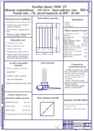 Чертеж операционно-технологической карты на подбор и измельчение  провяленой травы - сенажа (формат А1)
