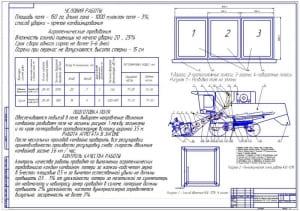 1.Чертеж операционно-технологической карты на уборку озимой пшеницы комбайном КЗС-1218 Полесье (формат А1)