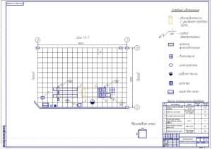 Чертеж технологической планировки участка диагностики (формат А1)