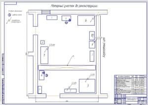 1.План моторного участка до реконструкции АТП (формат А1)