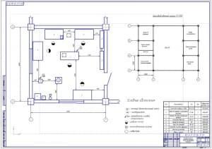 Чертеж планировки участка по ремонту топливной аппаратуры автотранспортного предприятия АТП для грузовых бортовых автомобилей МАЗ-53371 (формат А1)