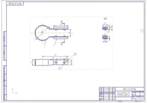 Чертеж приспособления для установки поршней в цилиндры компрессора (формат А2)