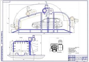 1.Общий вид струйной мойки высокого давления портального типа для легковых автомобилей и микроавтобусов (формат А1)