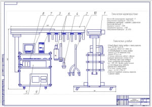 1.Общий вид диагностического комплекса для диагностики инжектора (формат А1) Конструктивная часть для ВКР, дипломного проекта